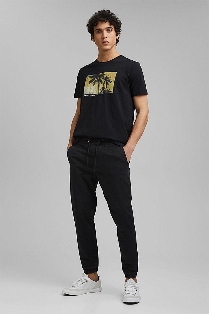 Potištěné tričko ze 100% bio bavlny, BLACK, detail image number 5