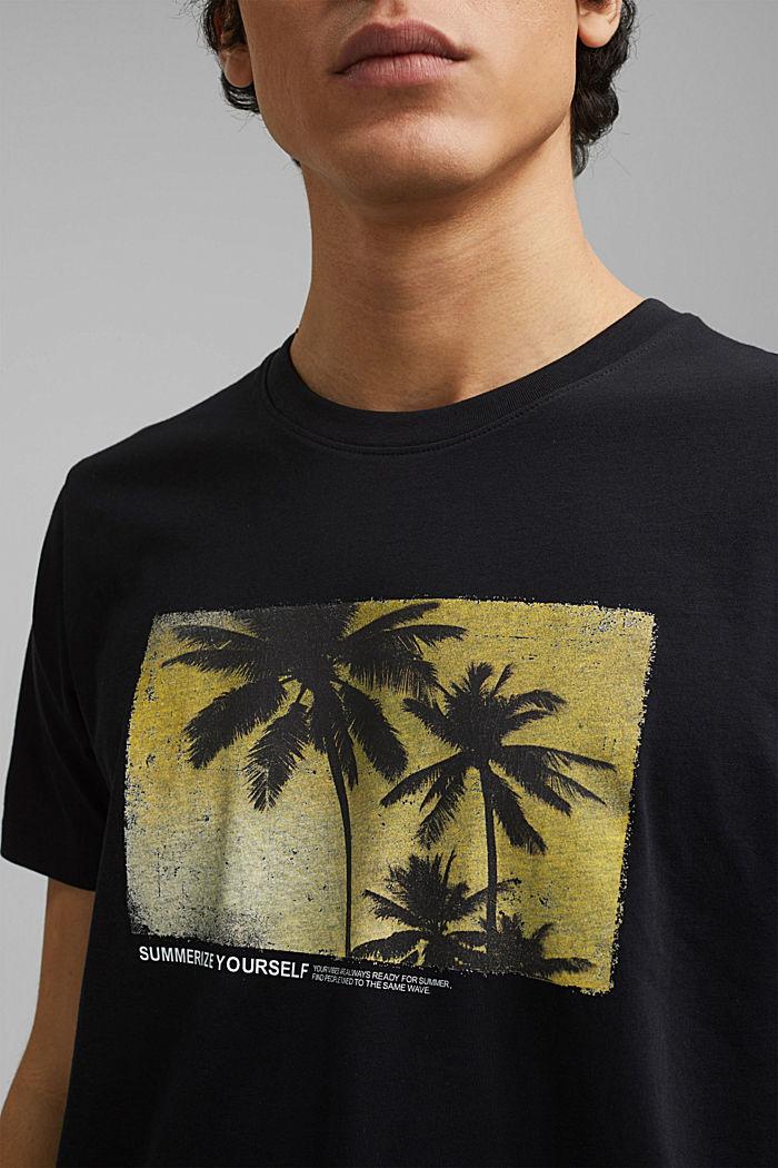 Potištěné tričko ze 100% bio bavlny, BLACK, detail image number 1