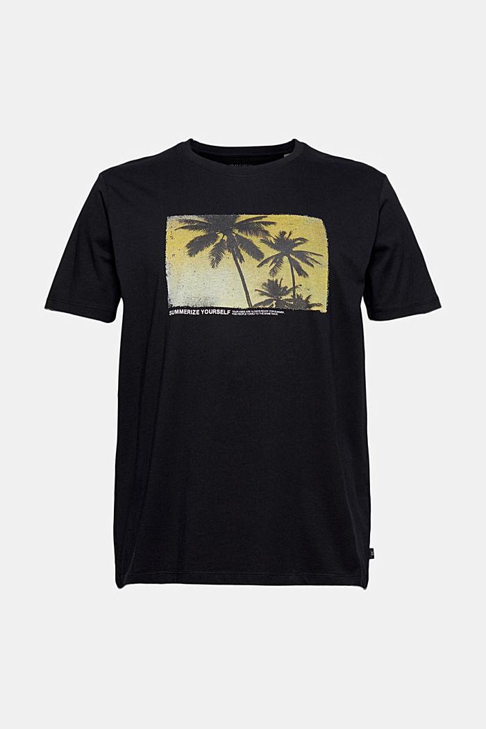Potištěné tričko ze 100% bio bavlny, BLACK, detail image number 6