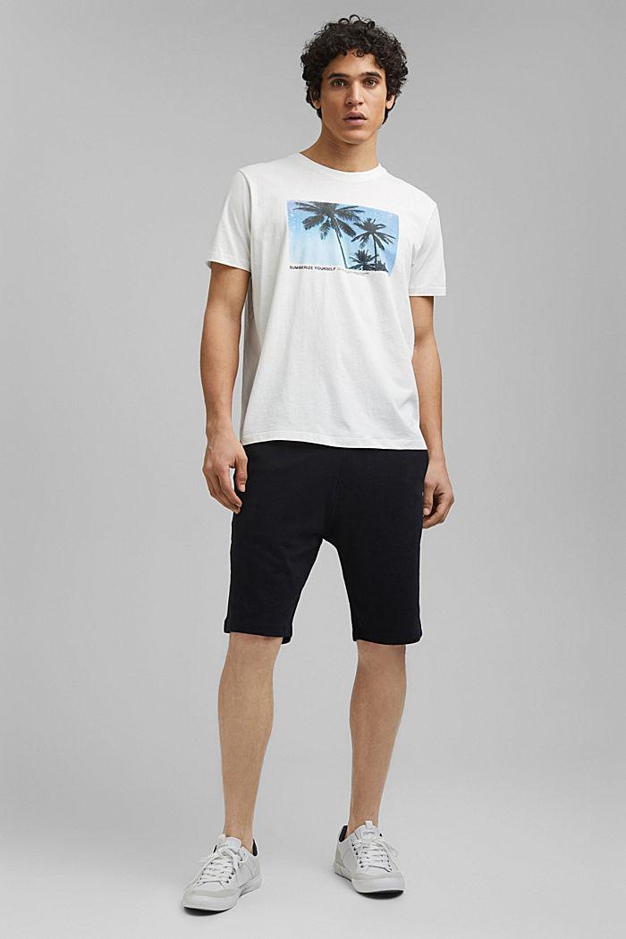 Print-Shirt aus 100% Organic Cotton, OFF WHITE, detail image number 6