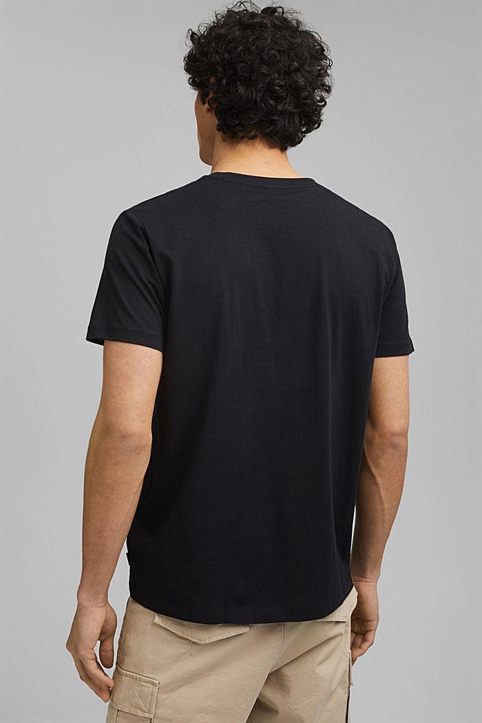 Printed T-shirt in 100% organic cotton, BLACK, detail image number 3