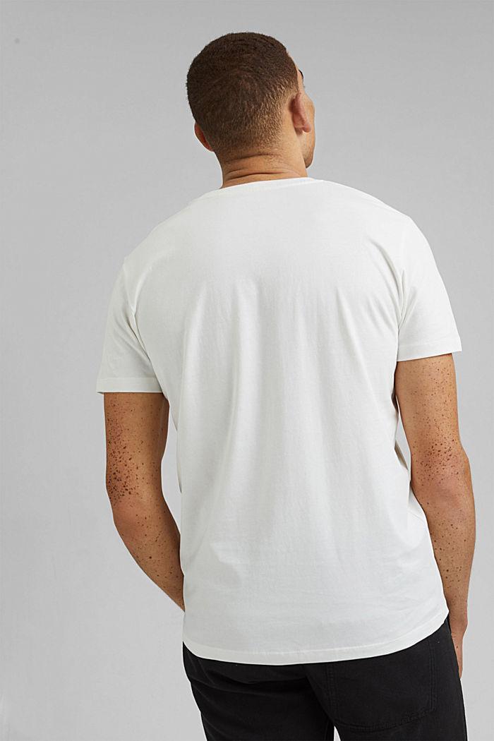 Camiseta con estampado, 100 % algodón ecológico, OFF WHITE, detail image number 3