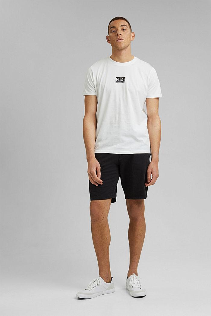 Camiseta con estampado, 100 % algodón ecológico, OFF WHITE, detail image number 2