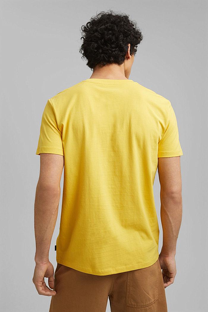 Printed T-shirt, 100% organic cotton, YELLOW, detail image number 3
