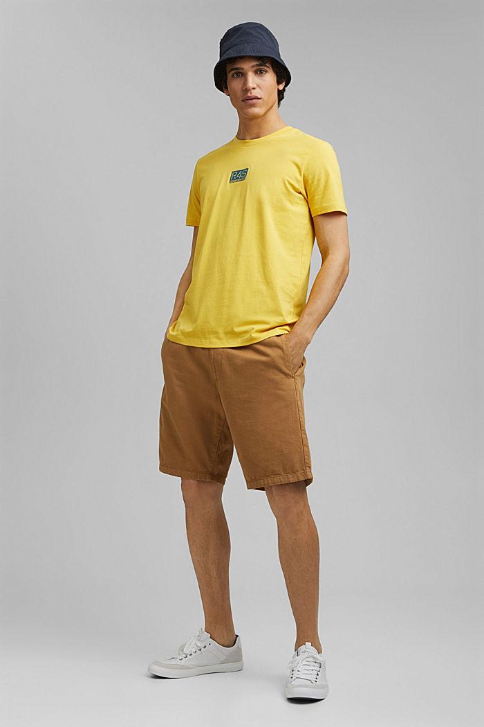 Printed T-shirt, 100% organic cotton, YELLOW, detail image number 2