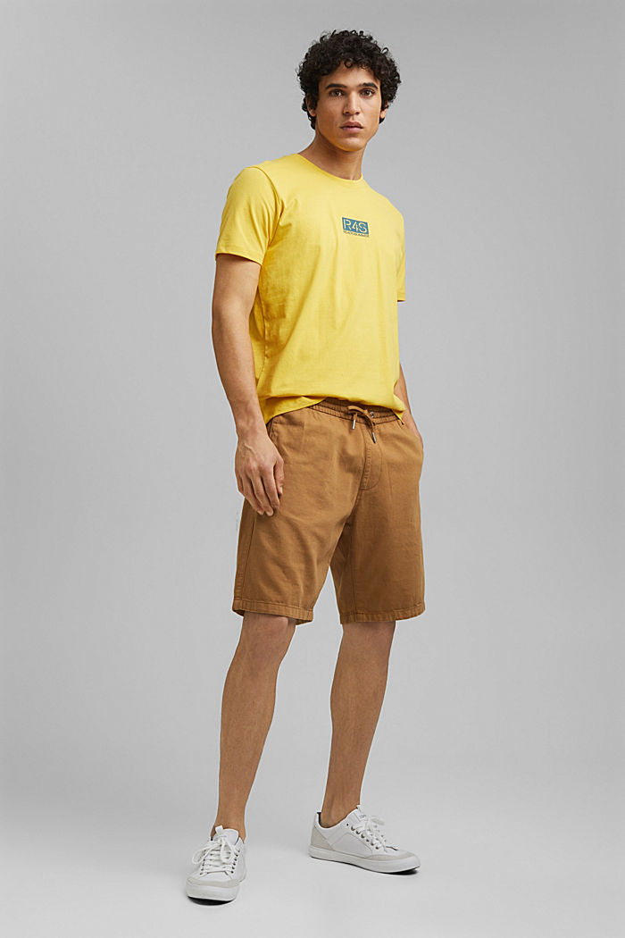 Printed T-shirt, 100% organic cotton, YELLOW, detail image number 5