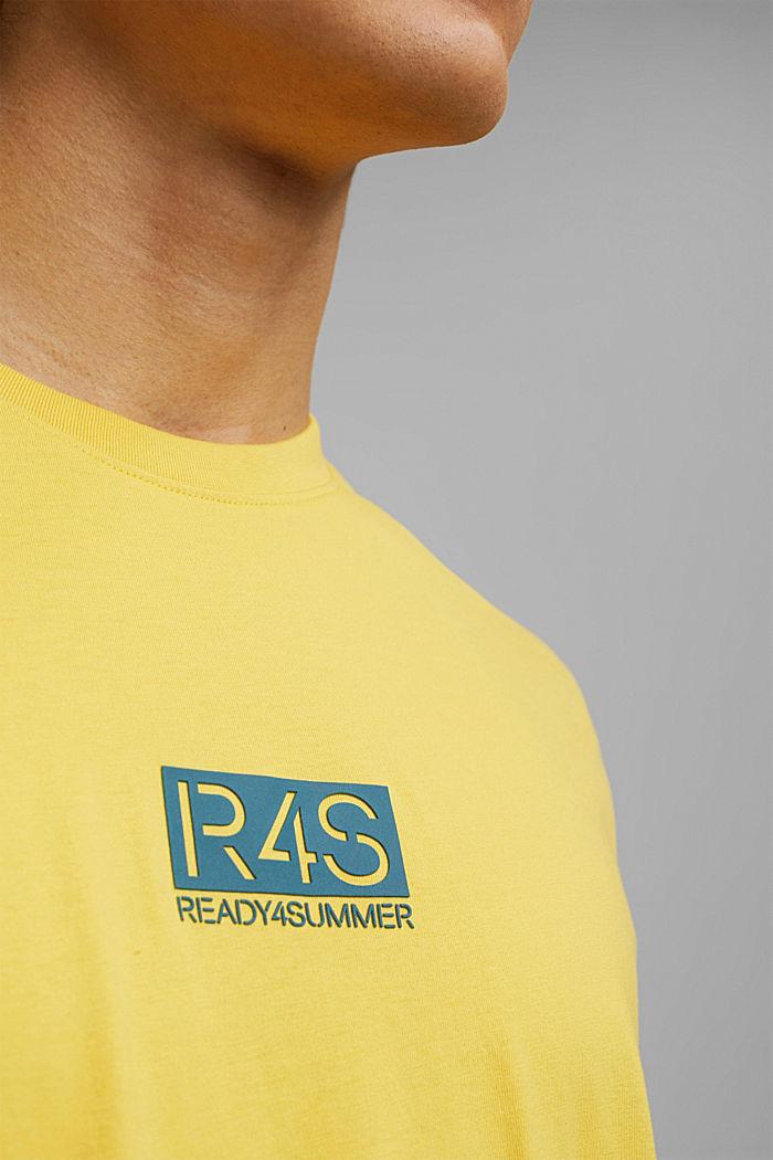 Printed T-shirt, 100% organic cotton, YELLOW, detail image number 1