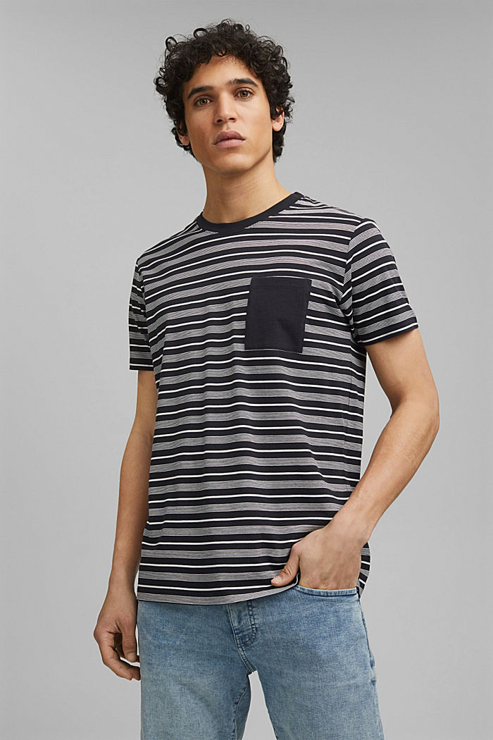 Jersey-T-Shirt aus 100% Organic Cotton, BLACK, detail image number 0