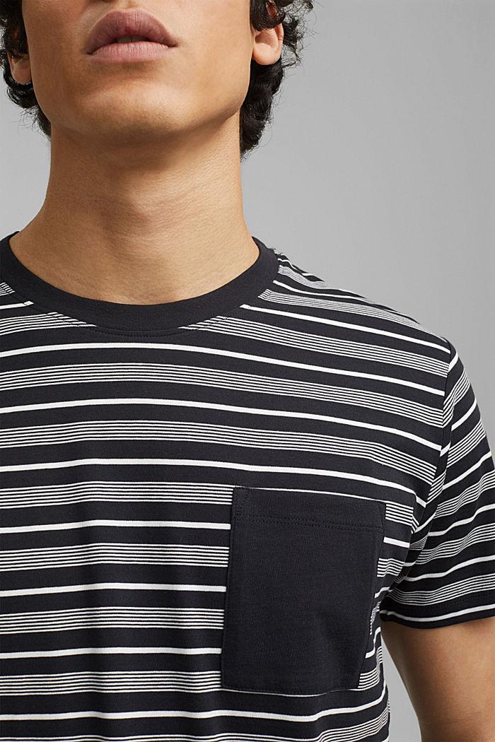 Jersey-T-Shirt aus 100% Organic Cotton, BLACK, detail image number 1