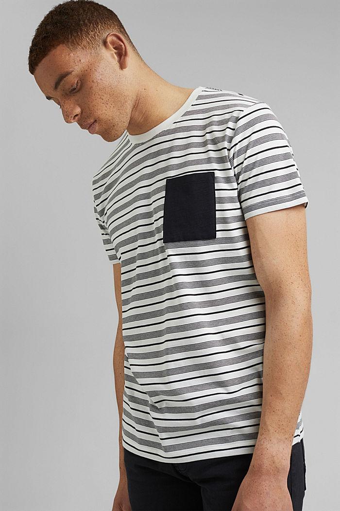 T-shirt en jersey, 100% coton bio, OFF WHITE, detail image number 0