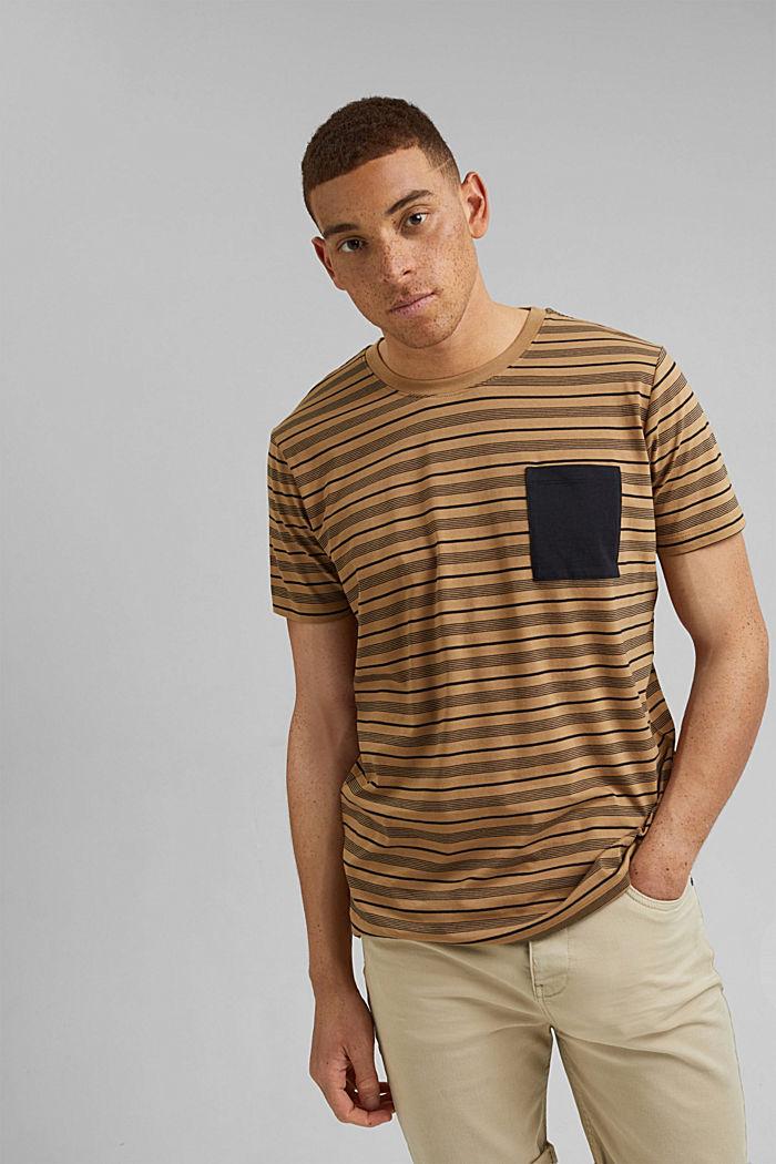 Jersey T-shirt van 100% organic cotton, CAMEL, detail image number 0