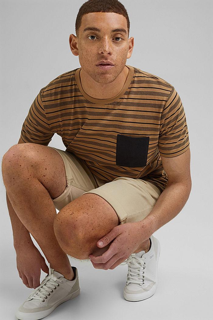 Jersey T-shirt van 100% organic cotton, CAMEL, detail image number 4