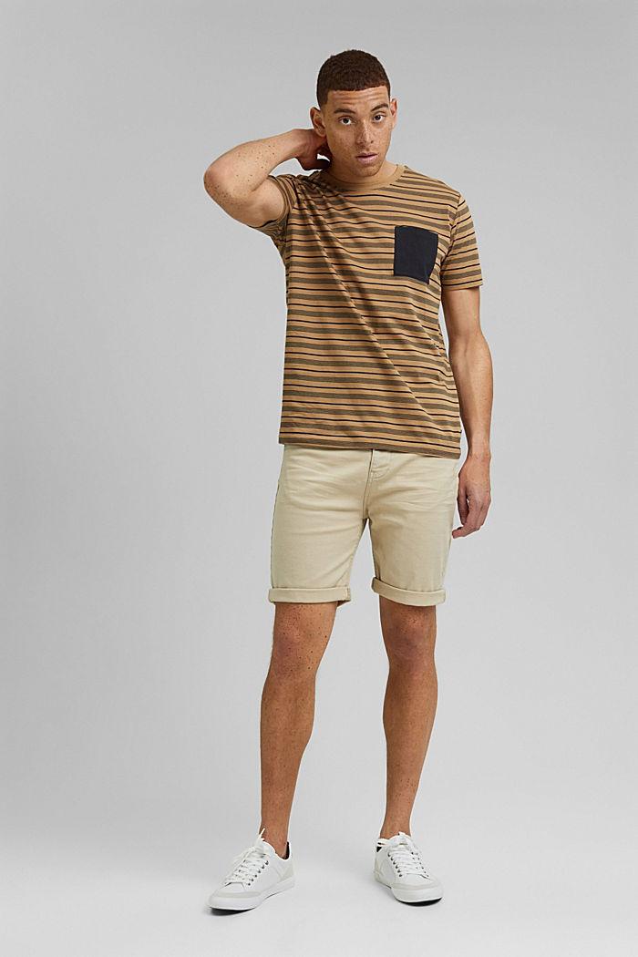 Jersey T-shirt van 100% organic cotton, CAMEL, detail image number 2