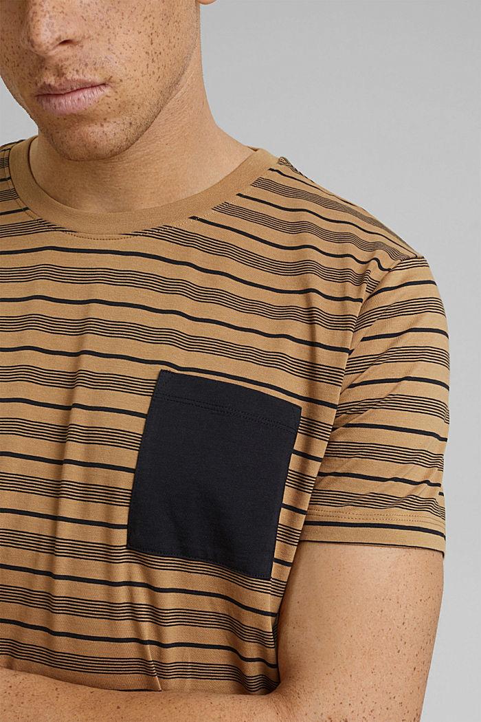 Jersey T-shirt van 100% organic cotton, CAMEL, detail image number 1