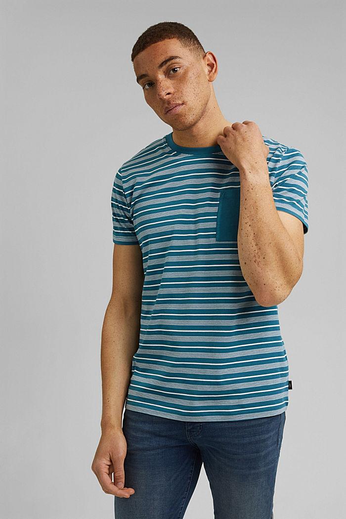 Jersey T-shirt van 100% organic cotton, PETROL BLUE, detail image number 0