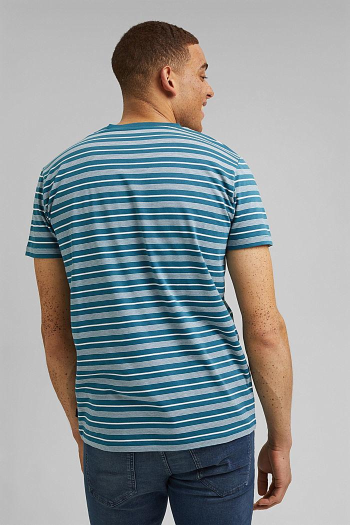 Jersey T-shirt van 100% organic cotton, PETROL BLUE, detail image number 3