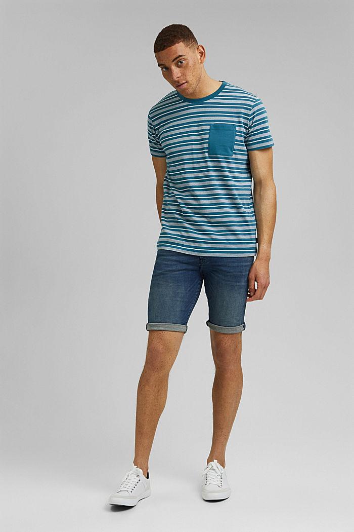 Jersey T-shirt van 100% organic cotton, PETROL BLUE, detail image number 2