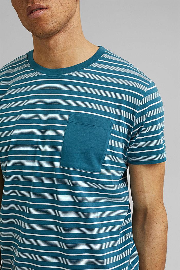 Jersey T-shirt van 100% organic cotton, PETROL BLUE, detail image number 1