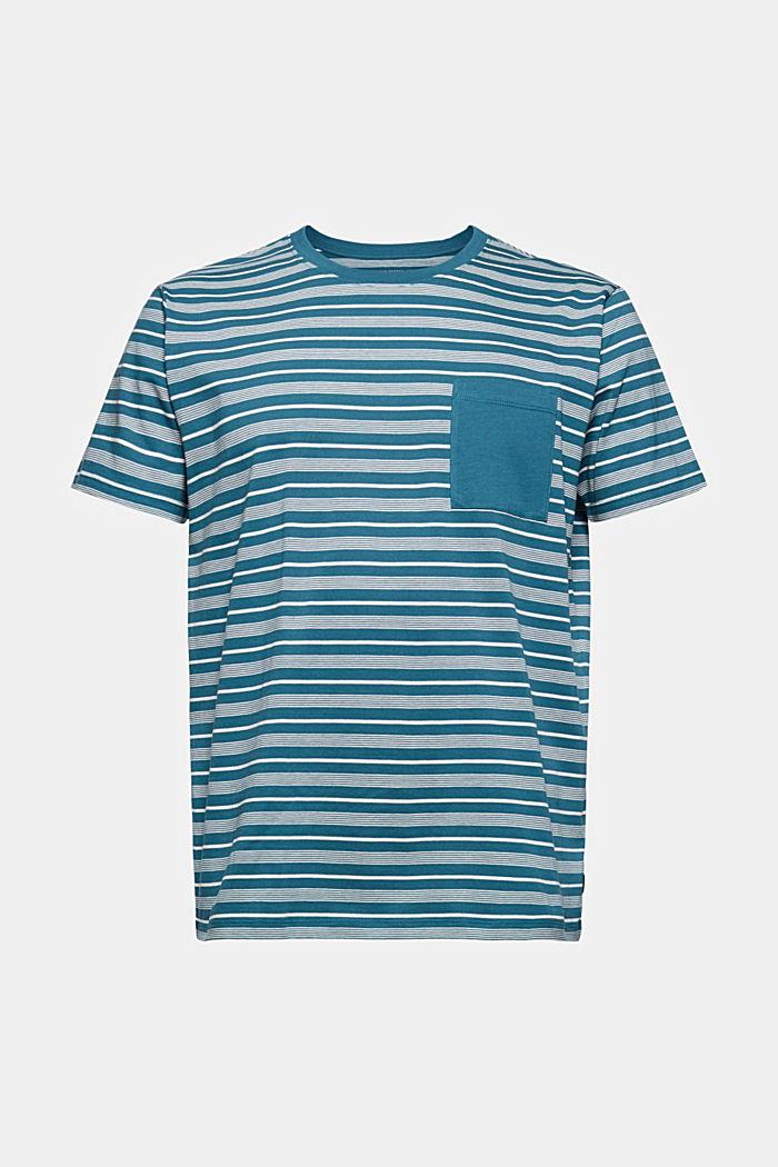 Jersey T-shirt van 100% organic cotton, PETROL BLUE, detail image number 6