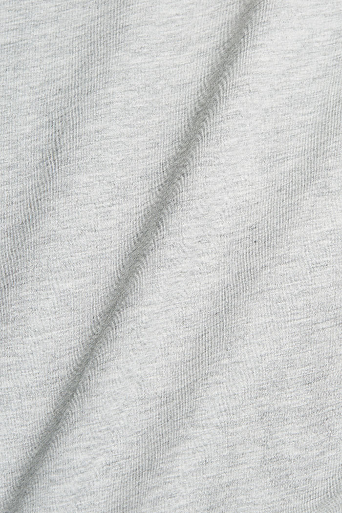 Jersey T-shirt with a print, organic cotton, LIGHT GREY, detail image number 5