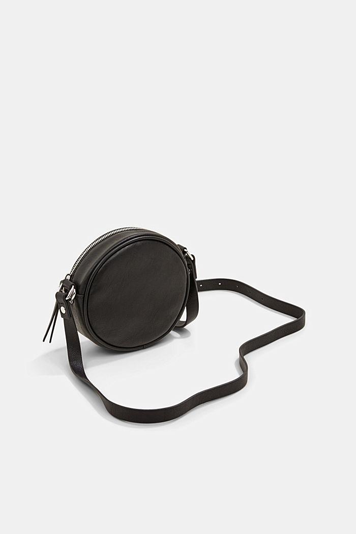 Veganistisch: ronde schoudertas met een gevlochten look, BLACK, detail image number 5