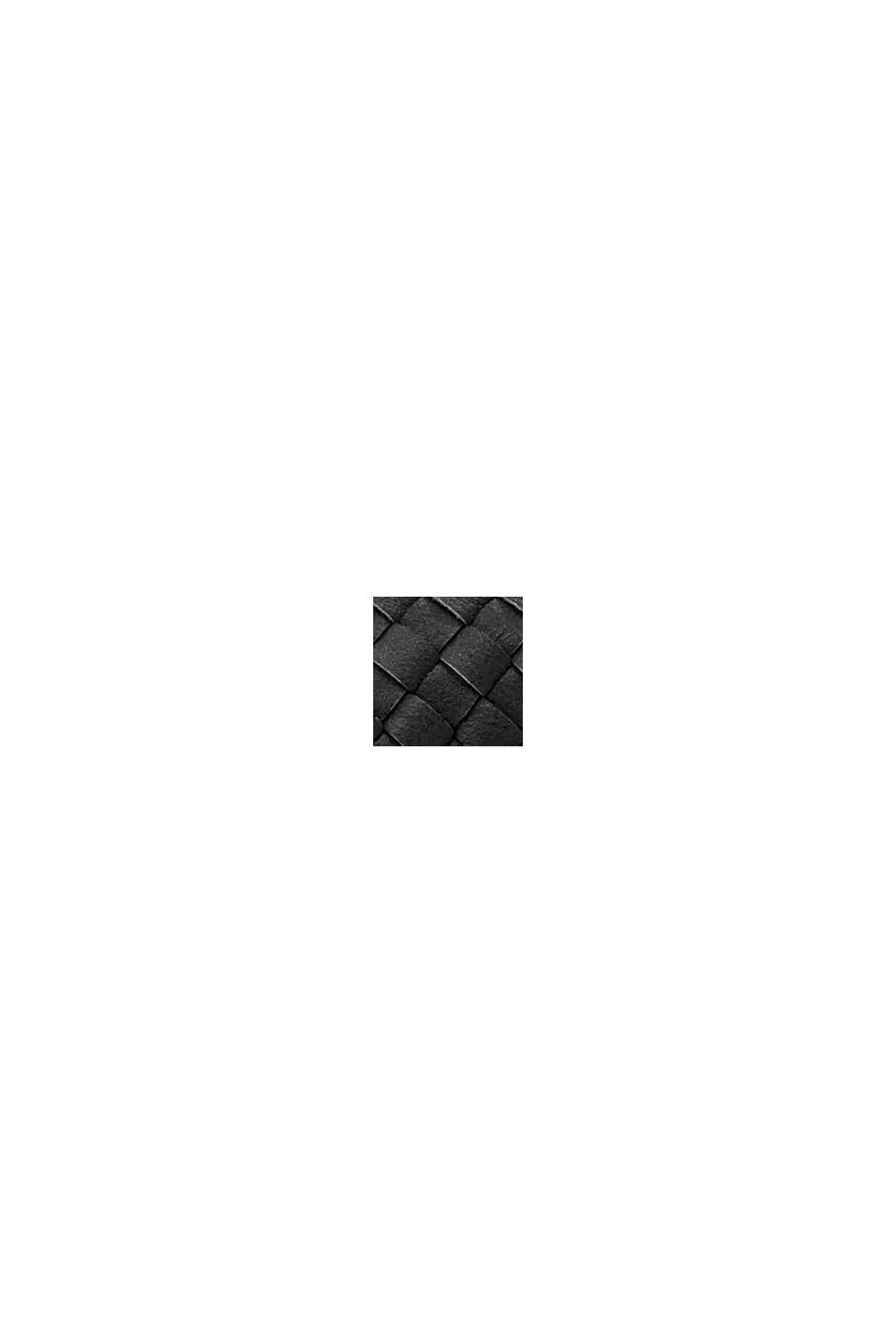 Vegansk: axelväska i flätad look, BLACK, swatch