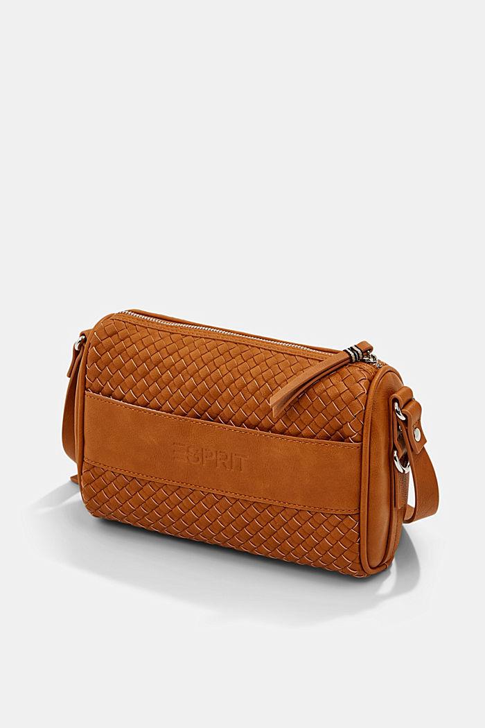 Vegan: braided shoulder bag, CARAMEL, detail image number 2