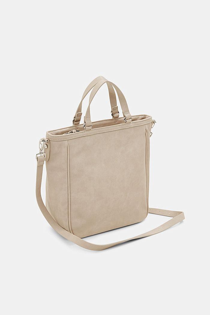 Vegan: braided shoulder bag, LIGHT BEIGE, detail image number 5