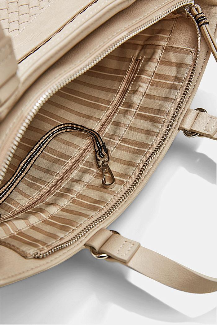 Vegan: braided shoulder bag, LIGHT BEIGE, detail image number 4