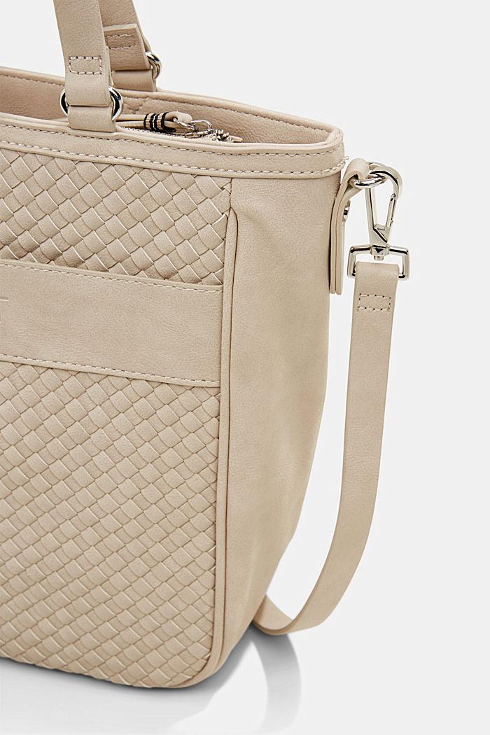 Vegan: braided shoulder bag, LIGHT BEIGE, detail image number 3