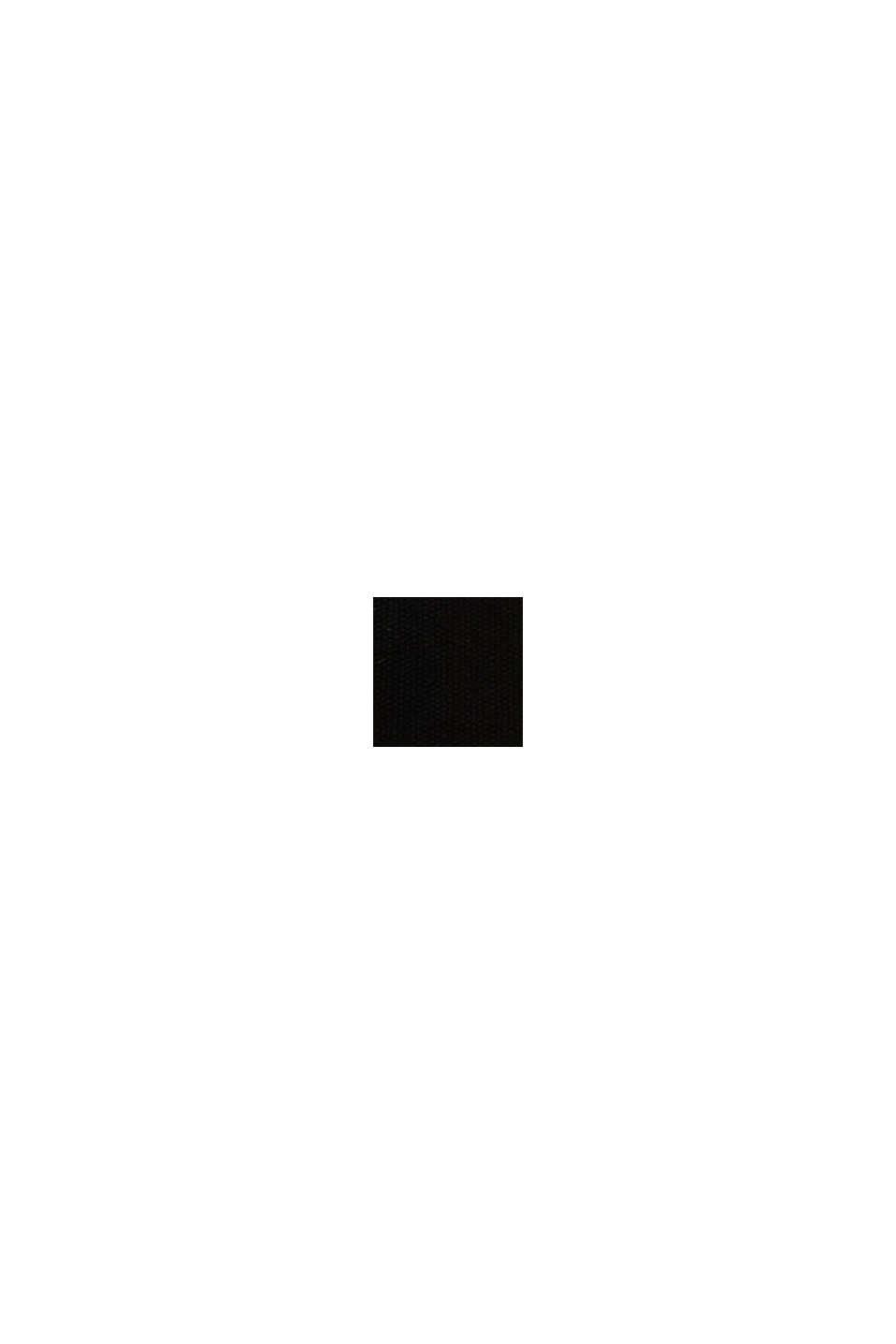 Tasche in Bast-Optik mit Canvas, BLACK, swatch
