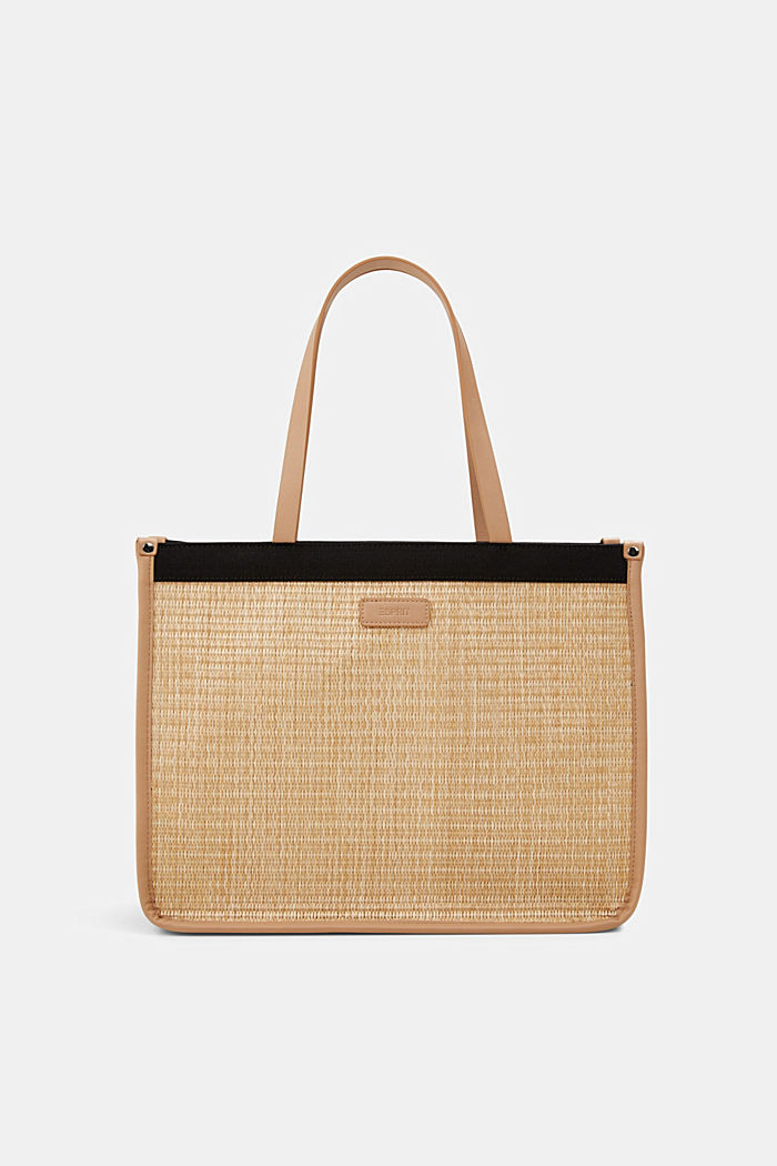 Canvas and bast-effect shopper