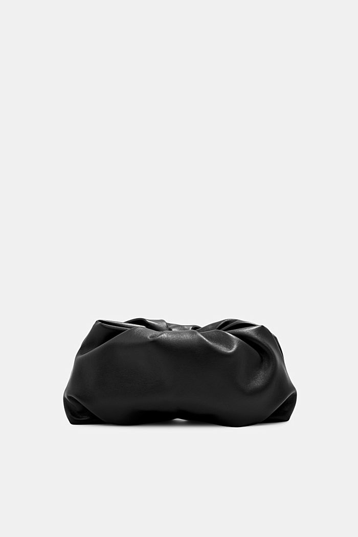 Veganský produkt: mini kabelka bagetka na zip, BLACK, detail image number 0