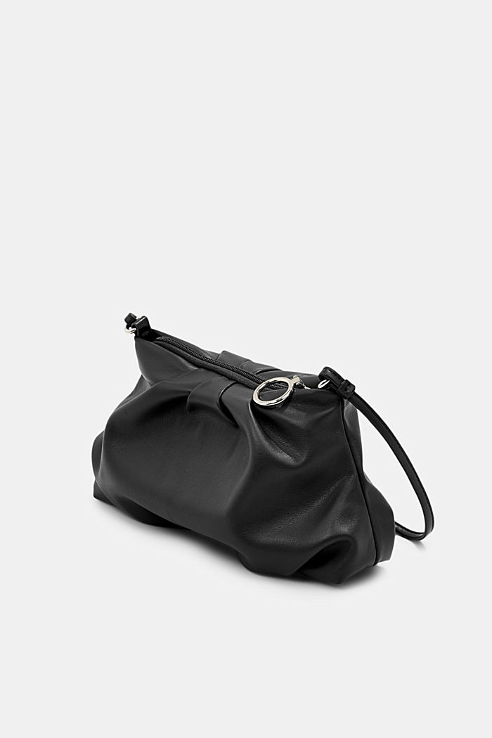 Veganský produkt: mini kabelka bagetka na zip, BLACK, detail image number 2