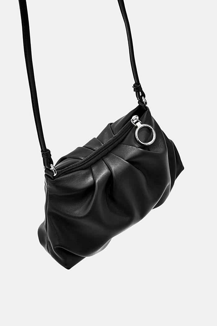 Veganský produkt: mini kabelka bagetka na zip, BLACK, detail image number 5