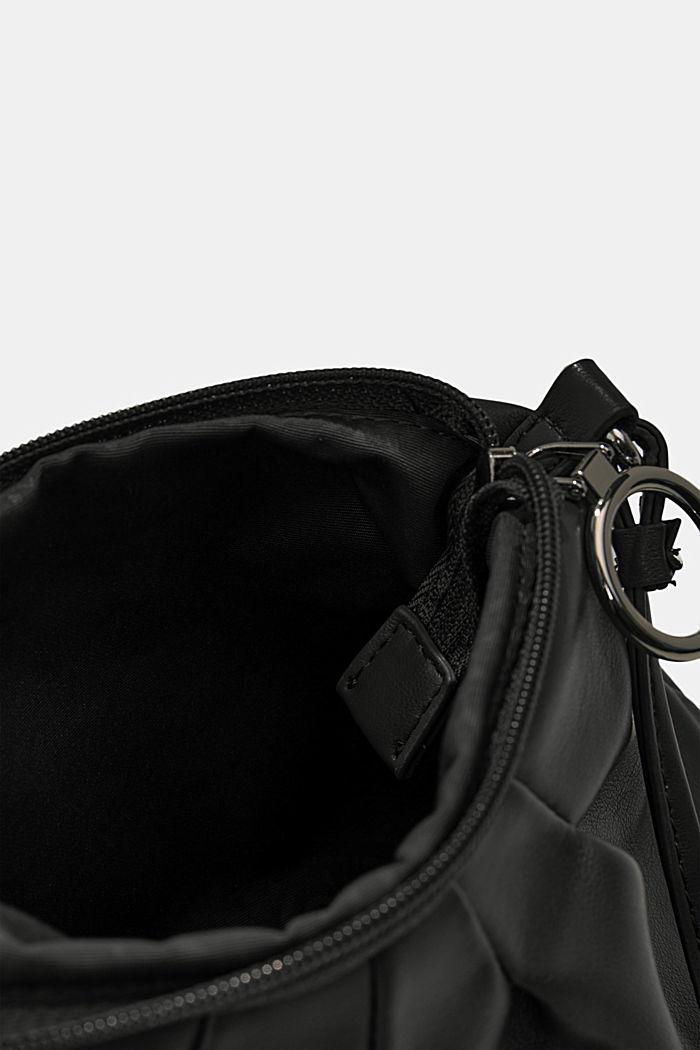 Veganský produkt: mini kabelka bagetka na zip, BLACK, detail image number 4