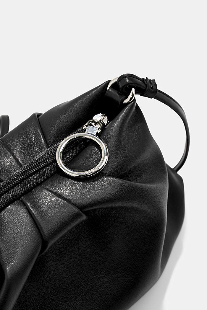 Veganský produkt: mini kabelka bagetka na zip, BLACK, detail image number 3