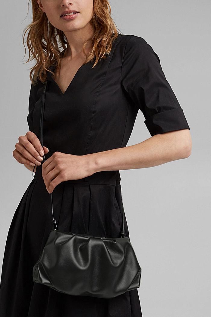 Veganský produkt: mini kabelka bagetka na zip, BLACK, detail image number 1