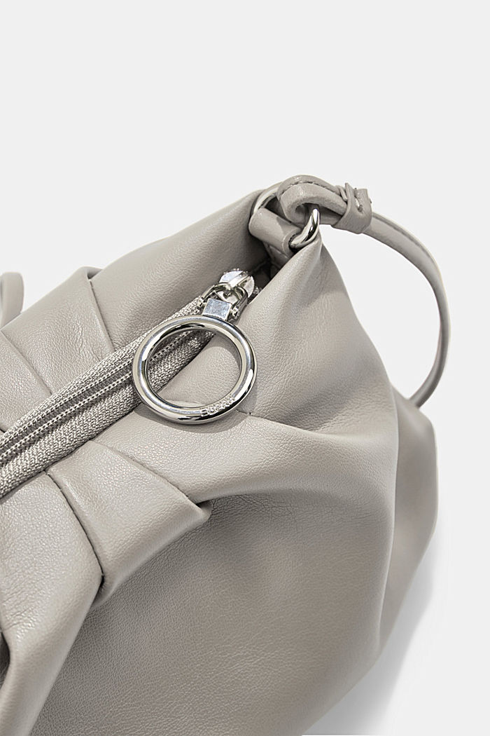 Vegan: Mini-Baguette mit Zipper, LIGHT GREY, detail image number 3