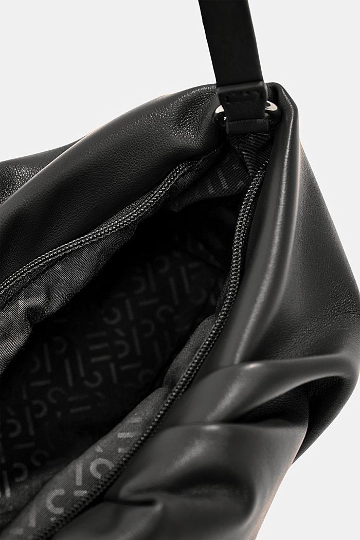 Vegaaninen: vetoketjullinen baguette-laukku, BLACK, detail image number 4