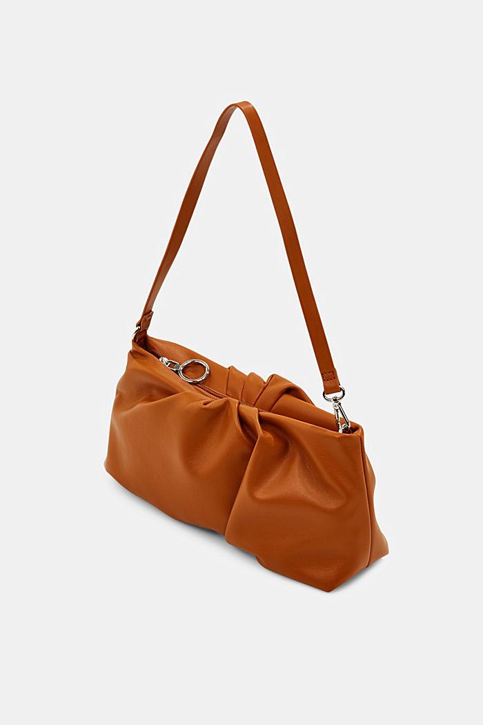 Vegan: baguette bag with zip, CARAMEL, detail image number 2