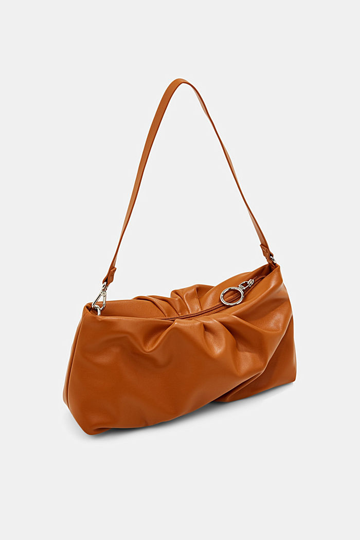 Vegan: baguette bag with zip, CARAMEL, detail image number 5