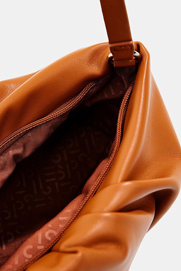 Vegan: baguette bag with zip, CARAMEL, detail image number 4