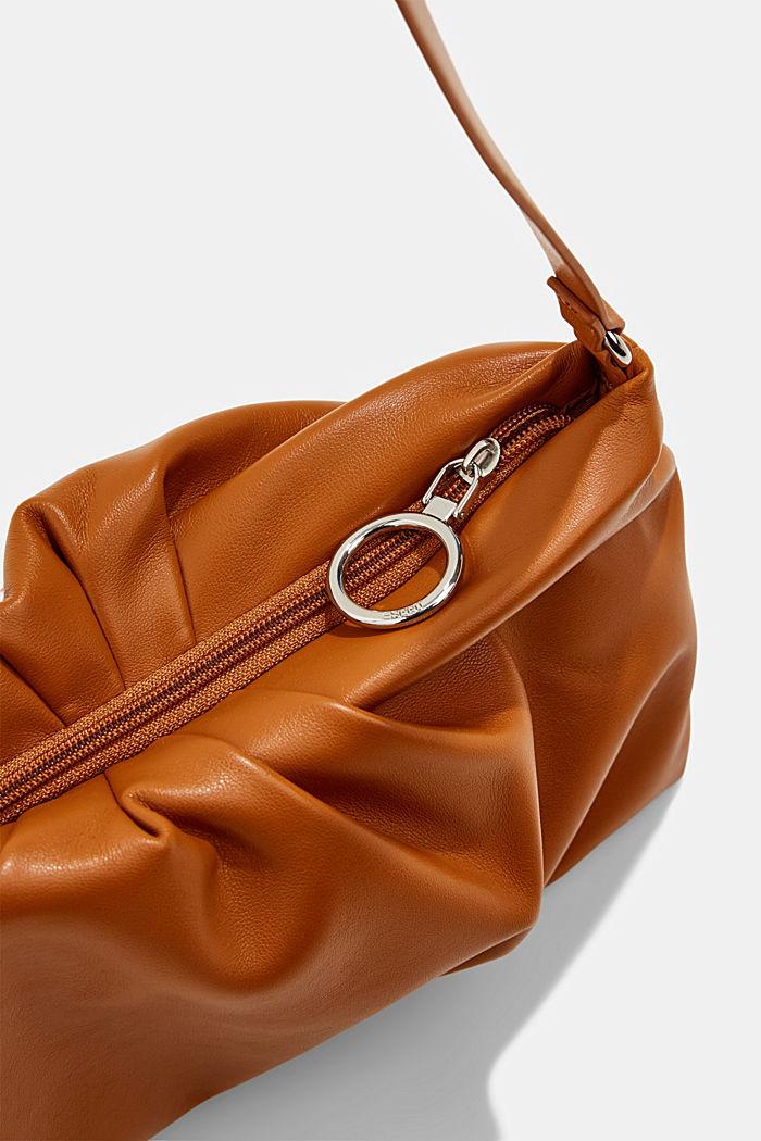 Vegan: baguette bag with zip, CARAMEL, detail image number 3