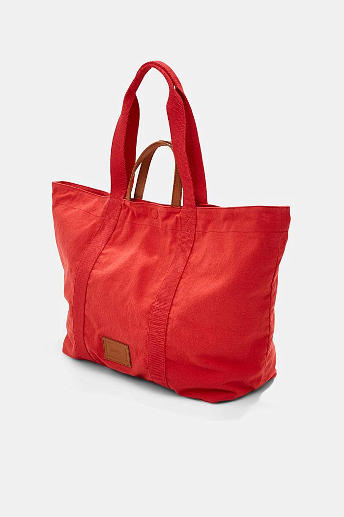 Käännettävä shopperi kanvasia ja pouch-kukkaro, ORANGE RED, detail image number 2
