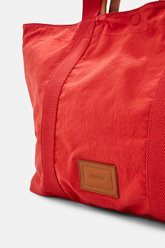 Käännettävä shopperi kanvasia ja pouch-kukkaro, ORANGE RED, detail image number 3