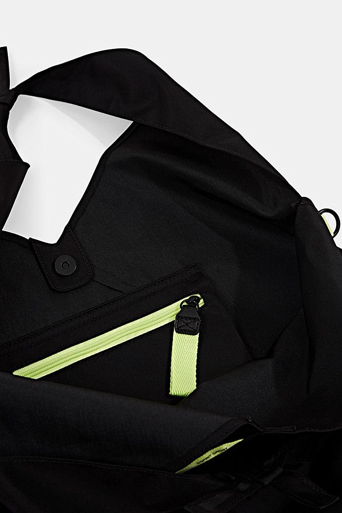 Nylon bucket bag met neondetail, BLACK, detail image number 4