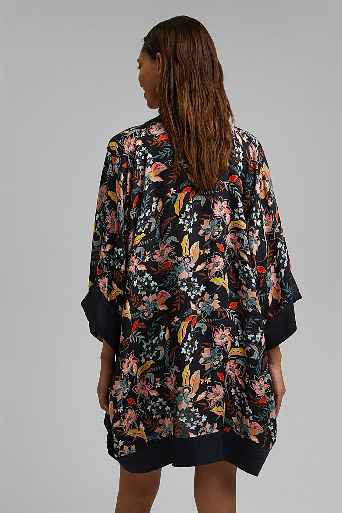 Kimono with a print made of TENCEL™ modal, NAVY, detail image number 3