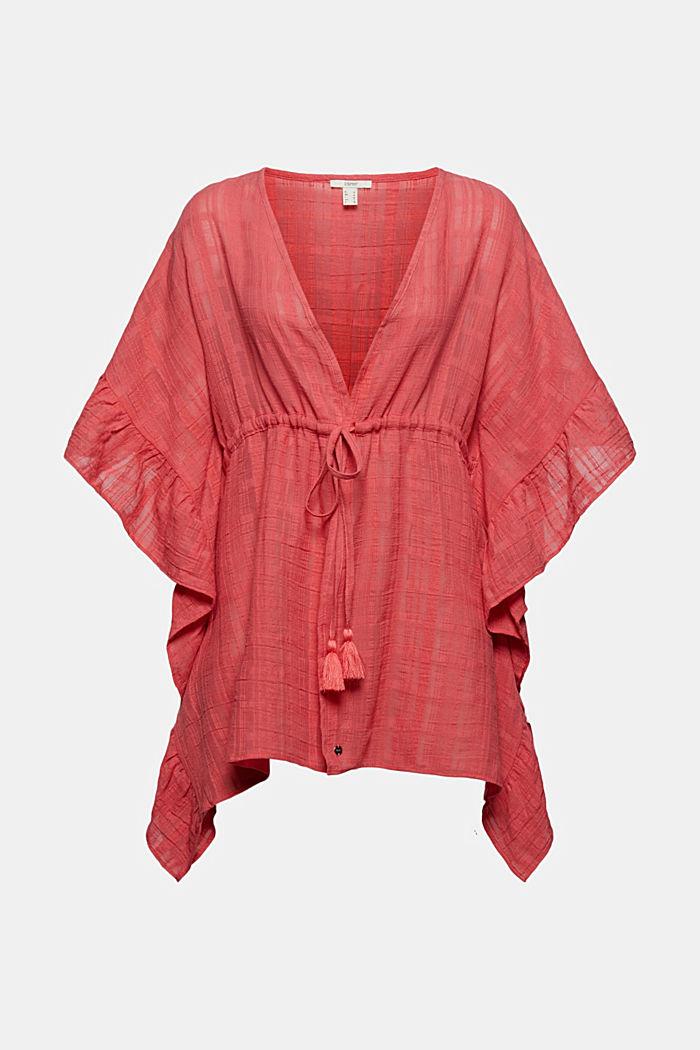 Kimono mit Struktur und Volants