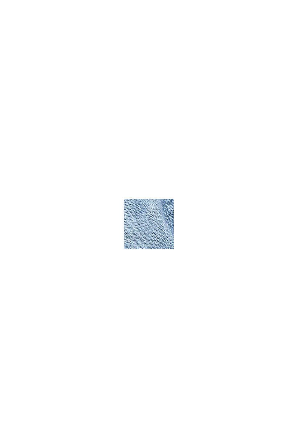 In TENCEL™/lana: sciarpa con blocchi di colore, LIGHT BLUE, swatch